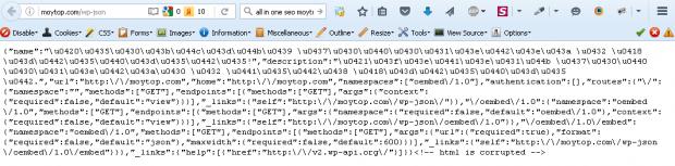 мусор очиста wordpress