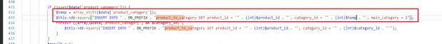 главная категория в admin quick edit pro